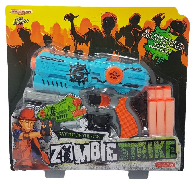 Купить Пистолет zombie strike с мягкими патронами Gratwest К79482,