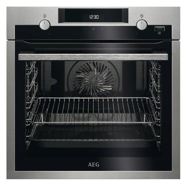 Встраиваемый электрический духовой шкаф AEG BEM455120M Grey/Black