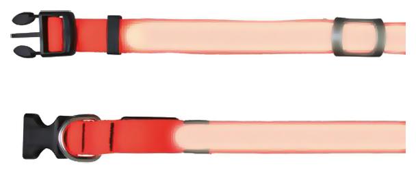 Ошейник для собак Trixie Flash Collar оранжевый 13064
