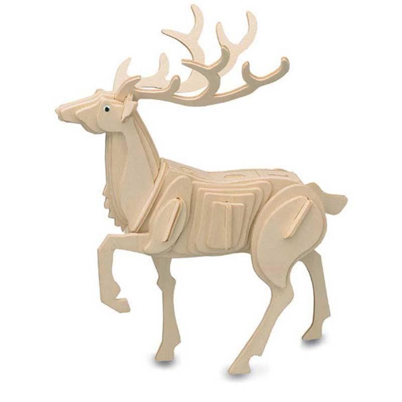 Купить Модель деревянная сборная Благородный олень, Wooden Toys, Модели для сборки