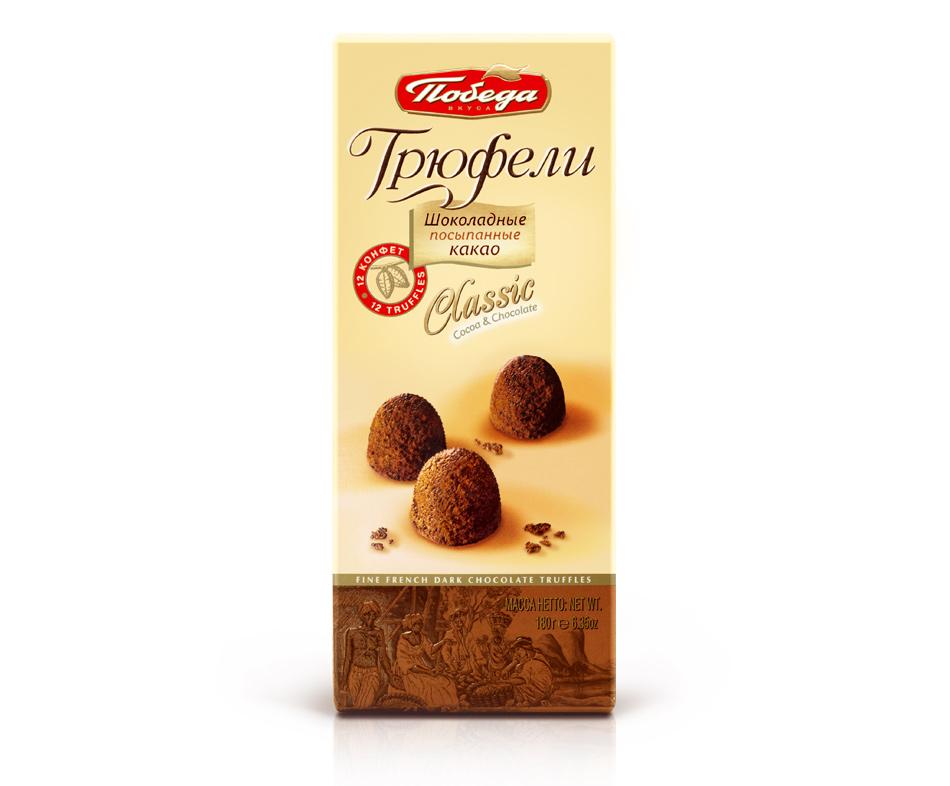 Трюфели Шоколадные Победа Вкуса Классические (180 Г) фото