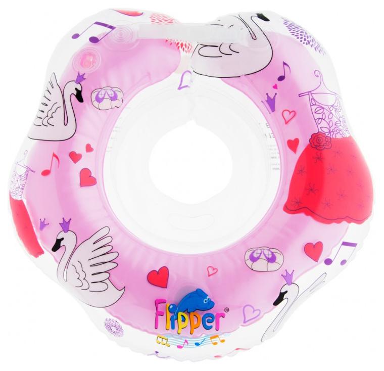 Круг на шею для купания малышей Flipper с музыкой роз.