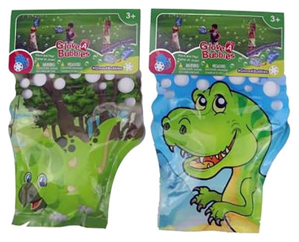 Купить Мыльные пузыри-перчатка Динозавр 2 вида, 32х21х1 см, Junfa toys