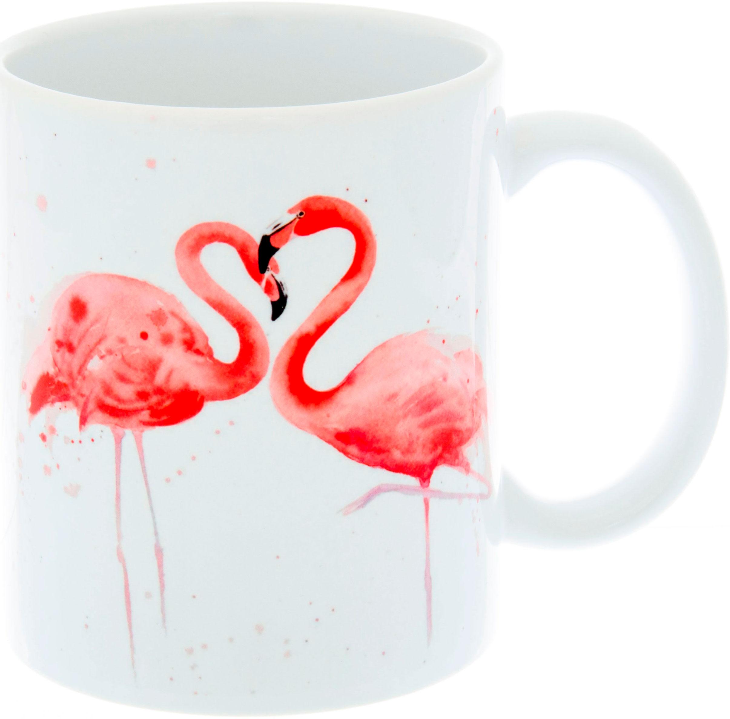 Керамическая кружка 3Dollara Розовый фламинго. MUG0019