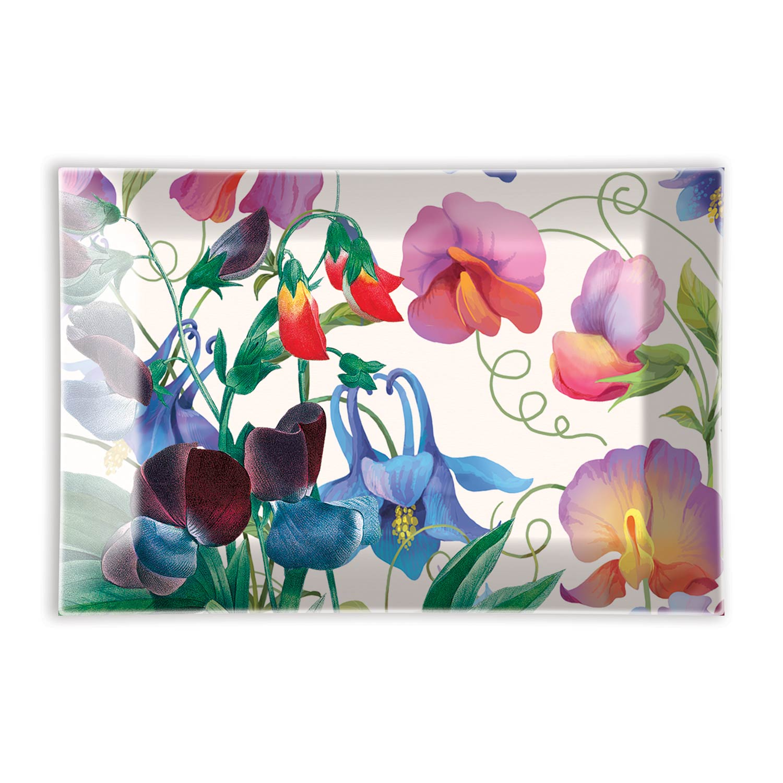 Мыльница стеклян. Цветок гороха 10х14,7см