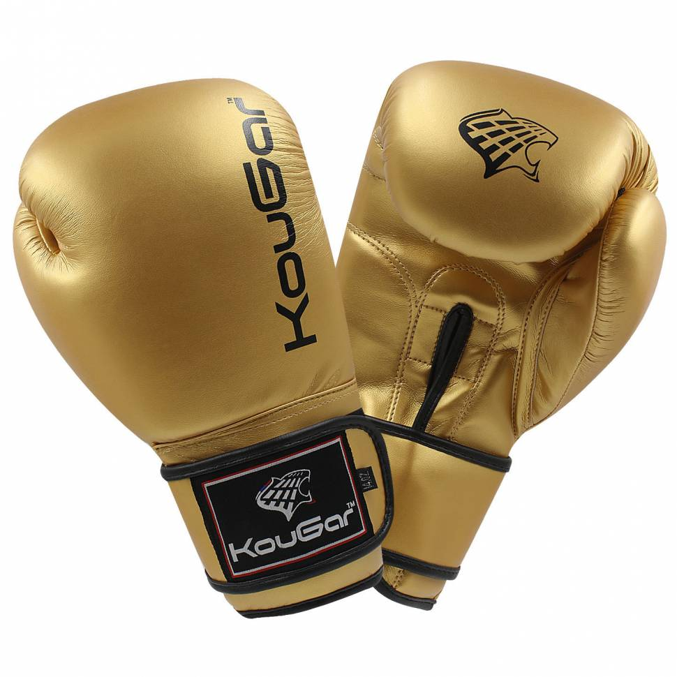 Боксерские перчатки Kougar KO600 золотистые 4 унции