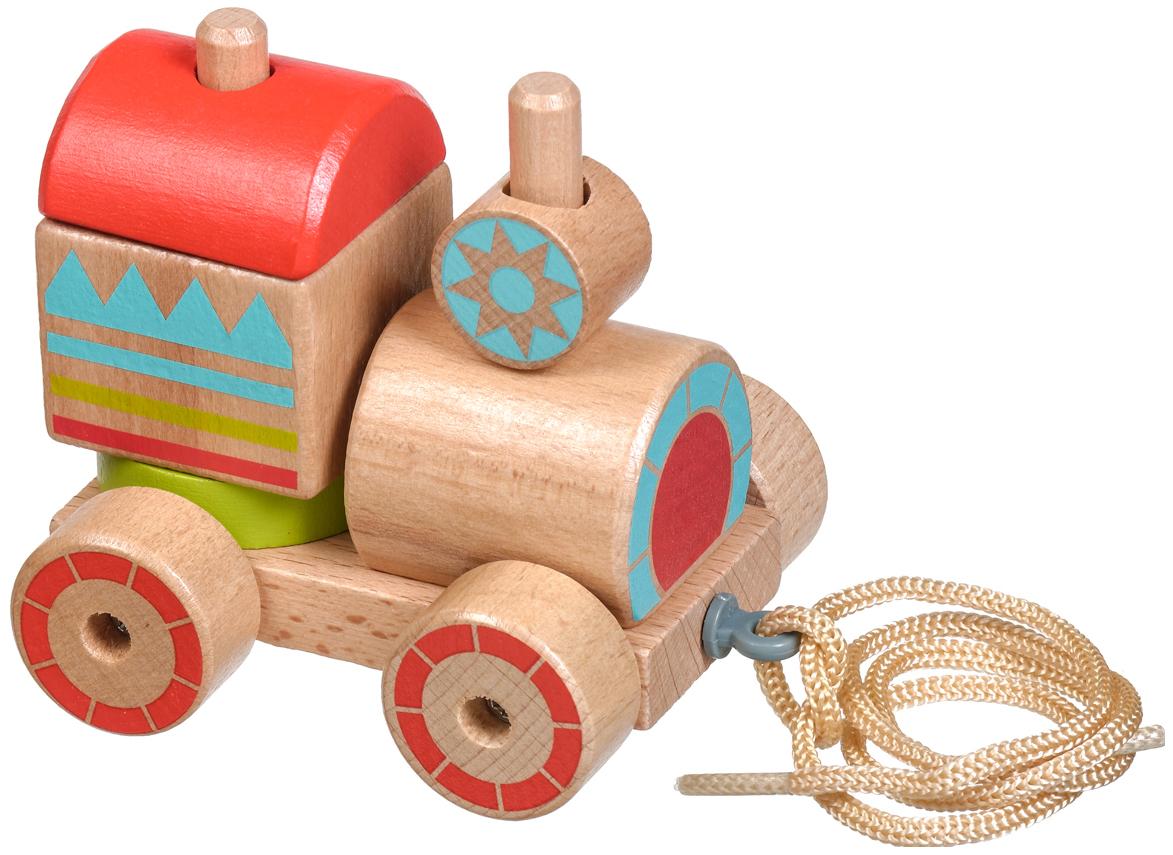 Купить Lucy&Leo Паровозик-пирамидка | LL157 - деревянная машинка-пирамидка,