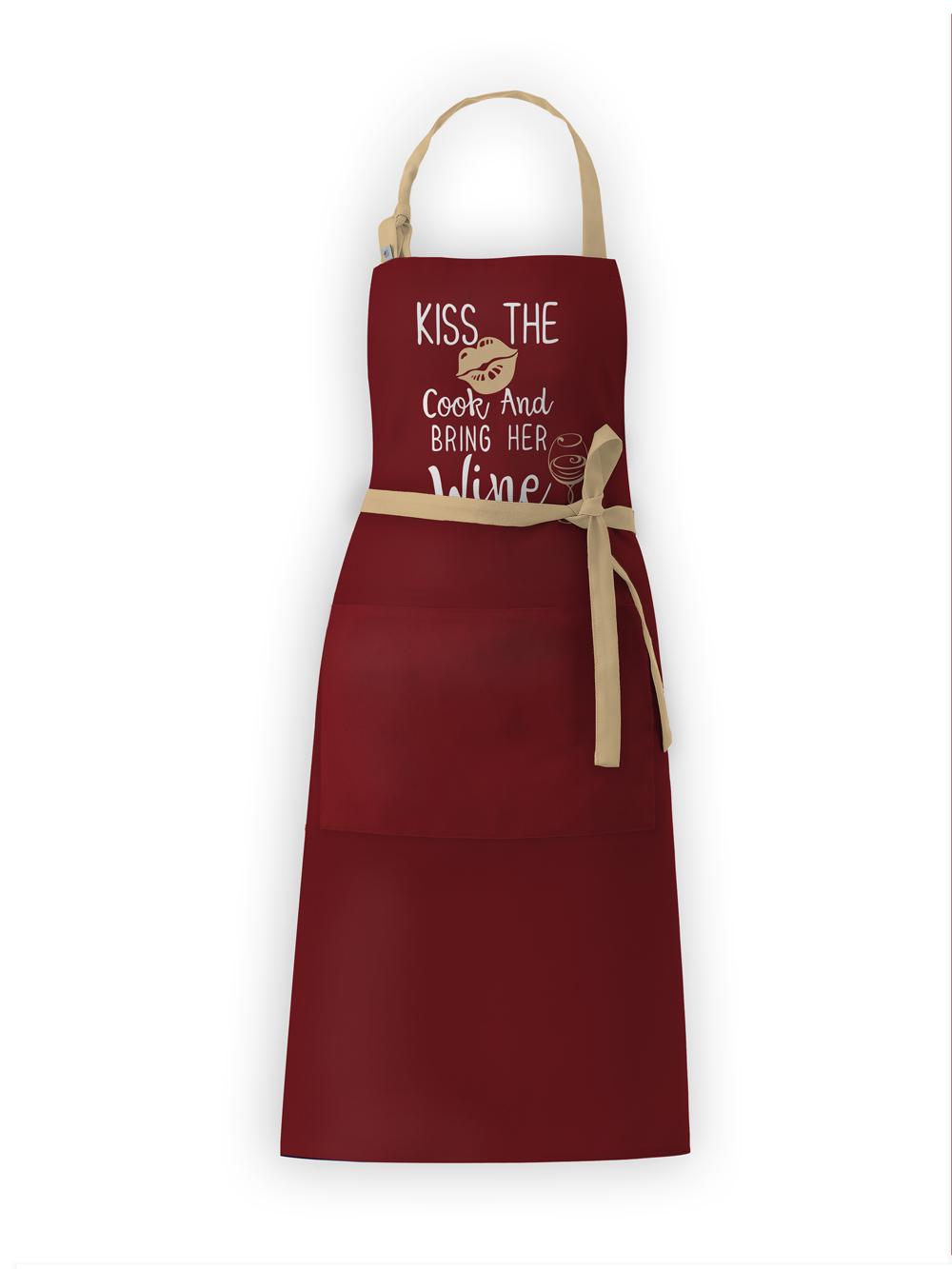 Фартук текстиль Вино бордо IQ Dekor 1761711