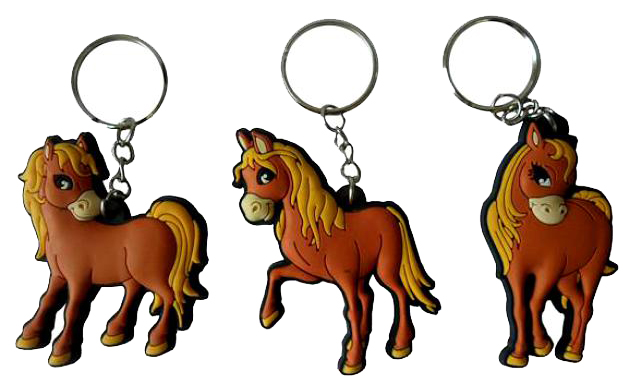 Купить Лошадь ПВХ брелок 6 *5*0, 5см 3в., Snowmen,