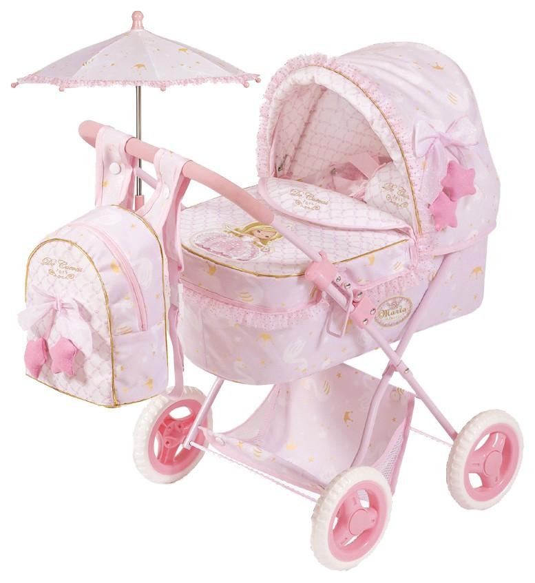 Купить Коляска для куклы с рюкзаком и зонтиком Мария , 60 см, DeCuevas, Коляски для кукол