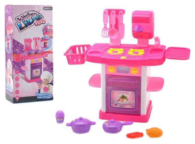 Кухня детская Наша игрушка Kitchen Live Pets 28 предметов