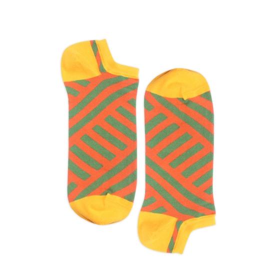 Носки унисекс Burning heels Короткая диагональ оранжевые 42-45
