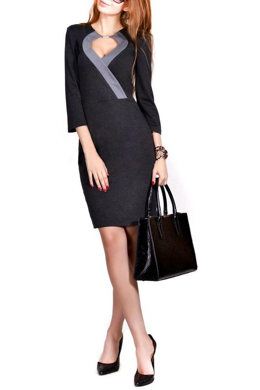 Платье женское FRANCESCA LUCINI F0272-7 серое 46 RU фото