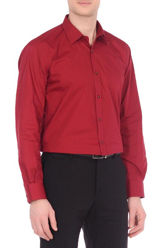 Рубашка мужская KarFlorens 1060-33 красная 2XL