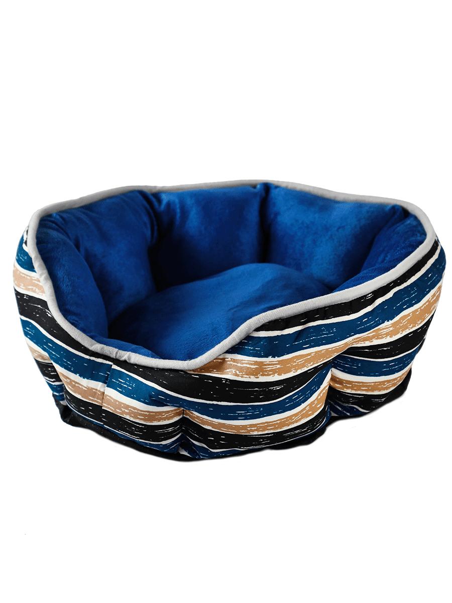 Лежанка для домашних животных Не Один Дома Комфорт, синяя, L, 70х65х14 см Комфорт по цене 1 324