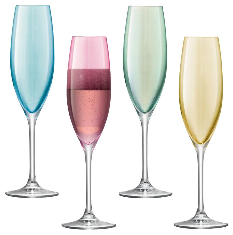 Набор бокалов LSA polka для шампанского, для коктейля 225 мл 4шт