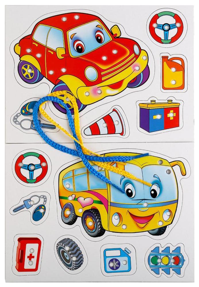 Логические игры Умка игра-шнуровка Машинки