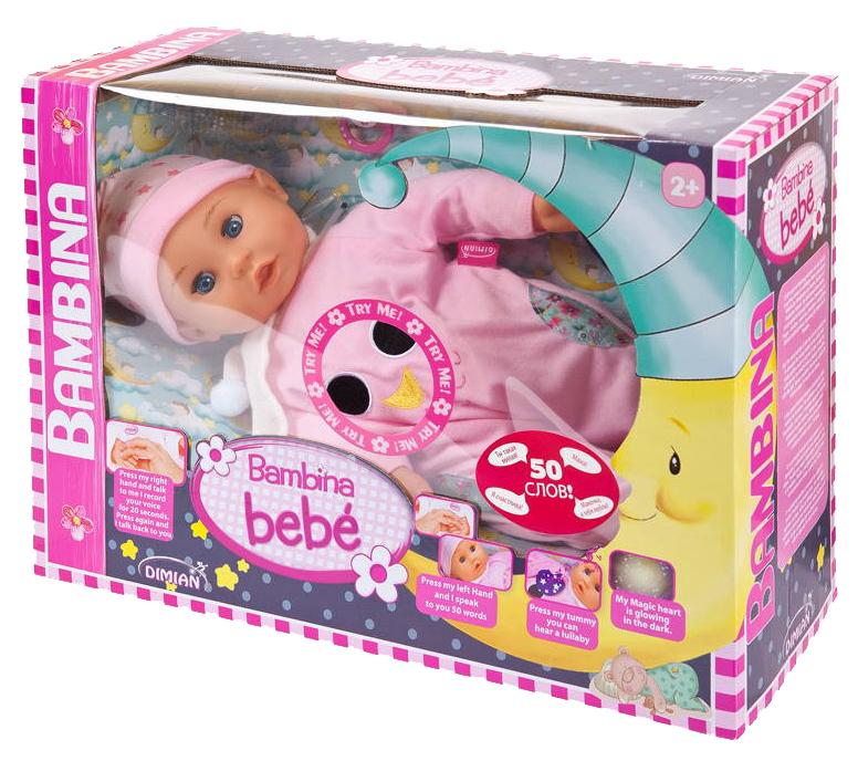 Купить Кукла Dimian Bambina Bebe 42 см звуковые эффекты колыбельная мелодия, Классические куклы