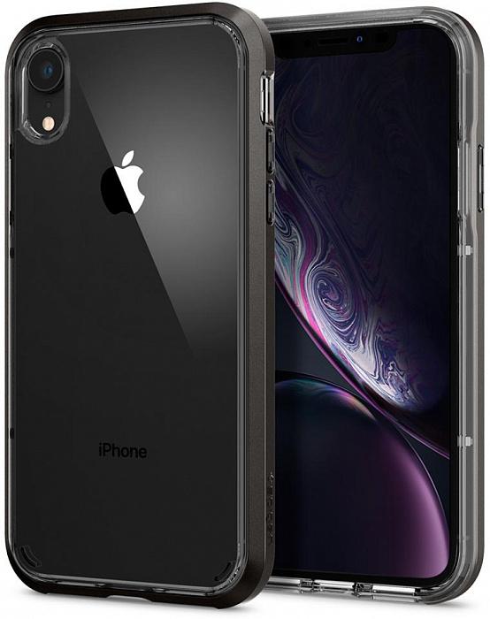 Чехол Spigen Neo Hybrid Crystal (064CS24884) для iPhone XR (Gunmetal)