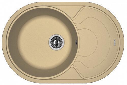 Мойка для кухни гранитная Florentina Родос 760, капучино