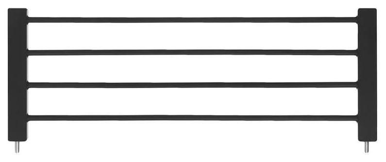 Дополнительная металлическая секция Baby Safe для защитного барьера-калитки 35 см, черный фото