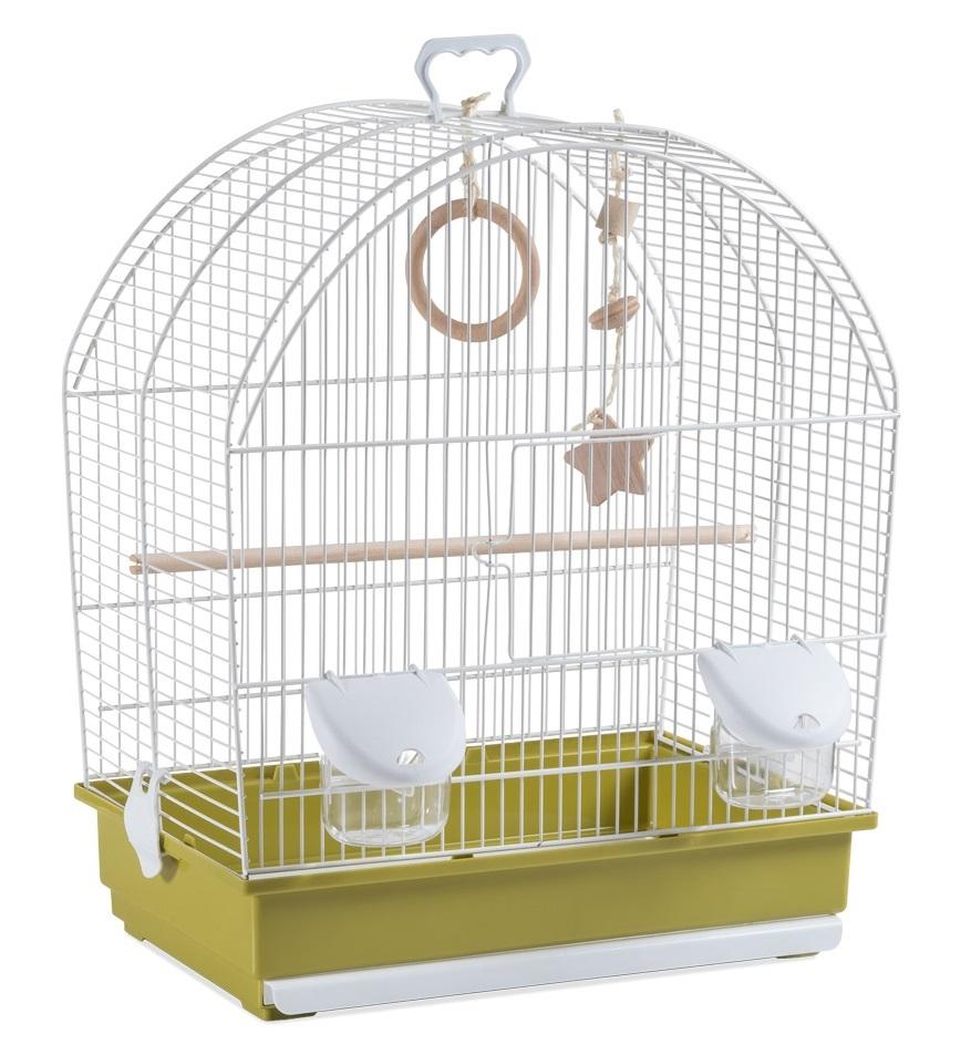 Клетка для птиц Voltrega (642) цвет белый/зеленый