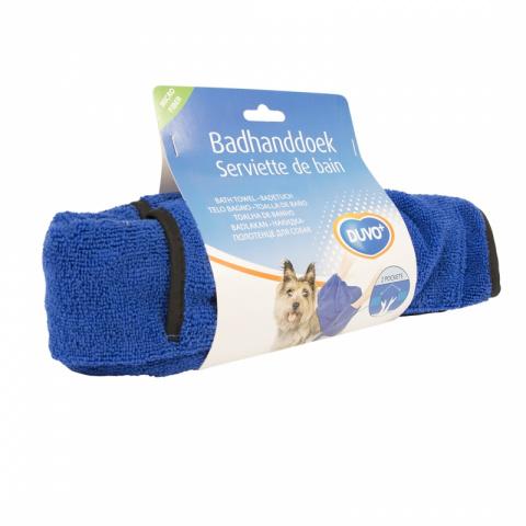 Полотенце для животных Duvo+, микрофибра, синее,