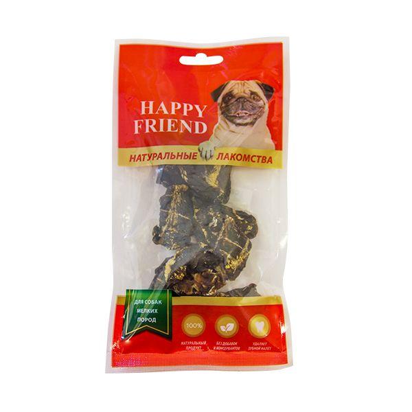 Лакомство для собак HAPPY FRIEND Сердце баранье для мелких пород 40г.