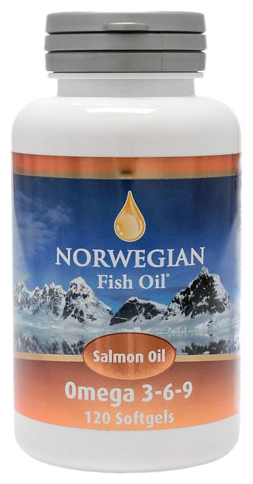 Купить Норвегиан Фиш Оил Омега-3 Масло лосося капсулы №120, Norwegian Fish Oil