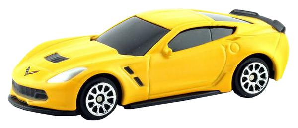 Купить Машина металлическая RMZ City 1:64 Chevrolet Corvette C7 желтый матовый 344033SM(E), Коллекционные модели