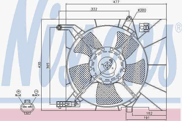 Вентилятор охлаждения двигателя NISSENS 85063
