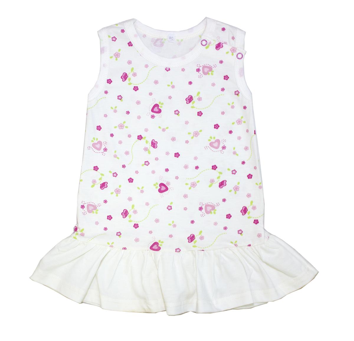 Платье для девочек Осьминожка белый р.86