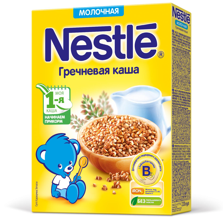 Купить Каша молочная Nestle Гречневая с 4 мес 220 г, Детские каши