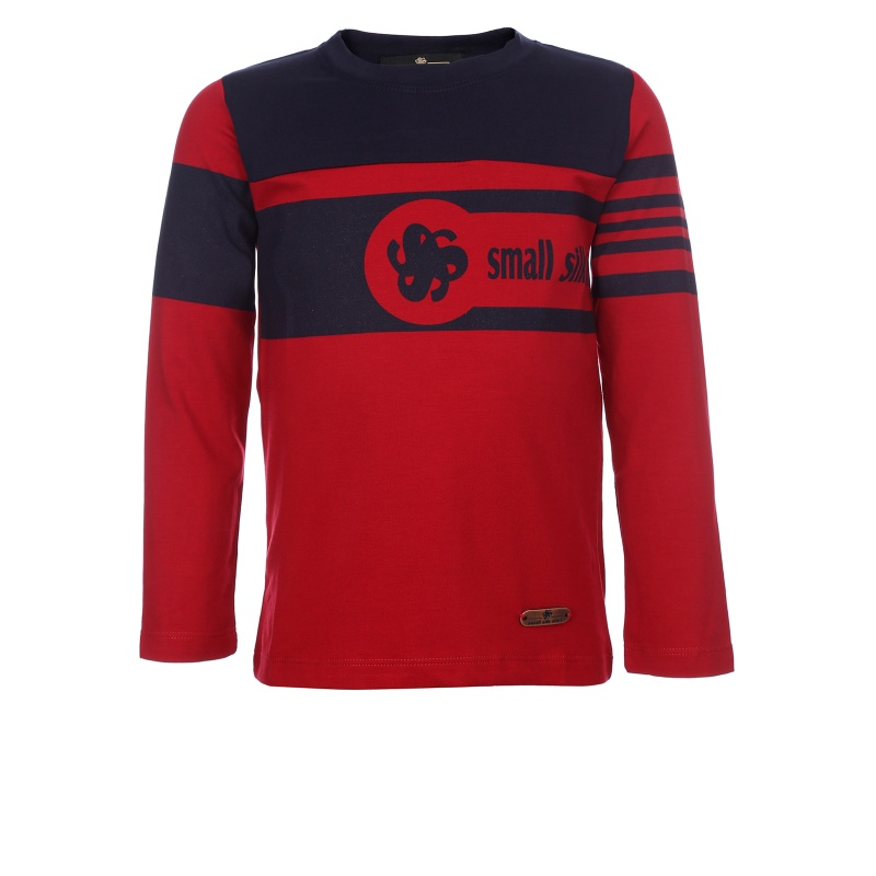 Купить SSS-1347, Футболка с длинным рукавом Small Silk Shirt Красный р.140,