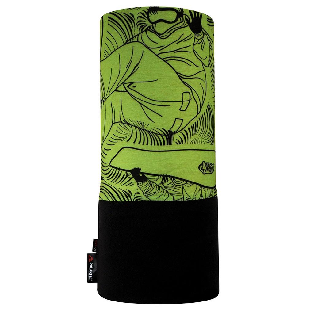 Бандана 4FUN Polartec, green board, One Size