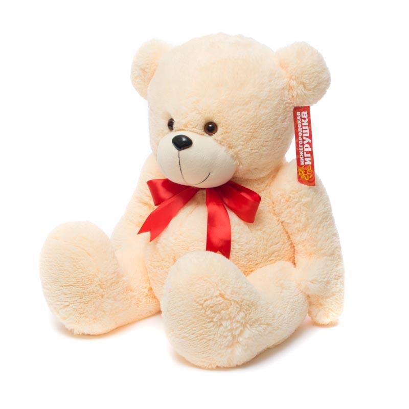 Купить Мягкая игрушка Медведь пузатый с бантом 60 см Нижегородская игрушка См-290-5б, Мягкие игрушки животные