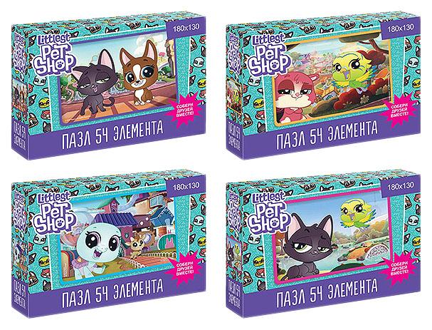 Купить ОРИГАМИ Минипазл Littlest Pet Shop. Прогулки по городу (54 элемента) 4424, Оригами, Пазлы