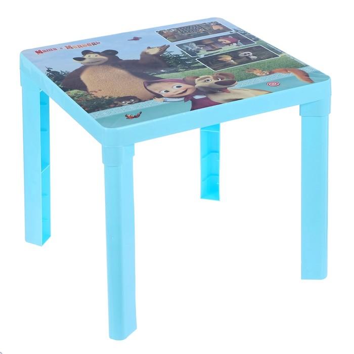 Купить АЛЬТЕРНАТИВА Стол детский Маша и Медведь, голубой 51x51x47 см М7292, Альтернатива, Детские столики