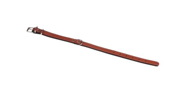 Ошейник для собак Аркон Софт, кожаный, коньячный, 40-51 см x 25 мм фото