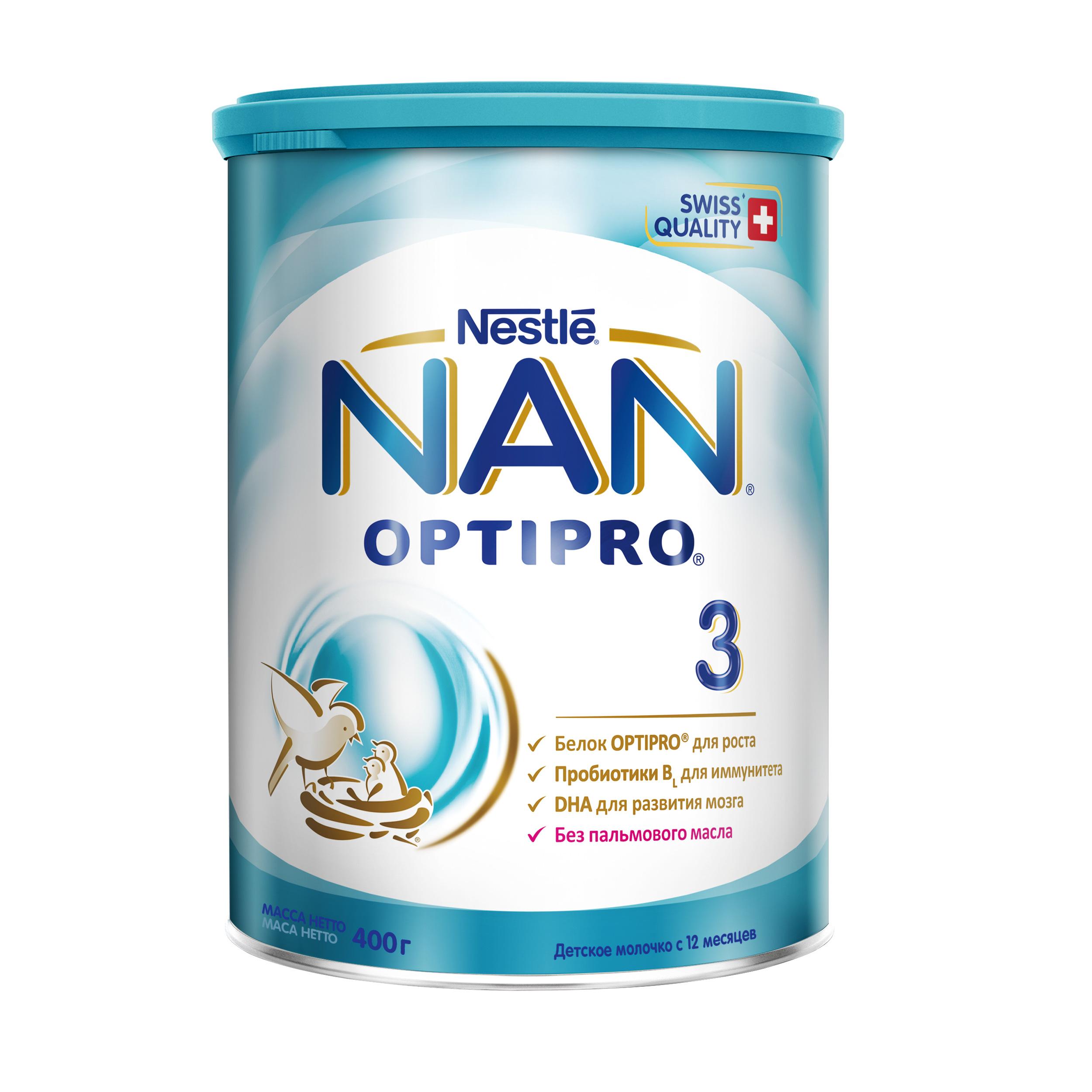 Купить Молочная смесь Nestle NAN 3 с 12 мес., 400 г, Детские смеси