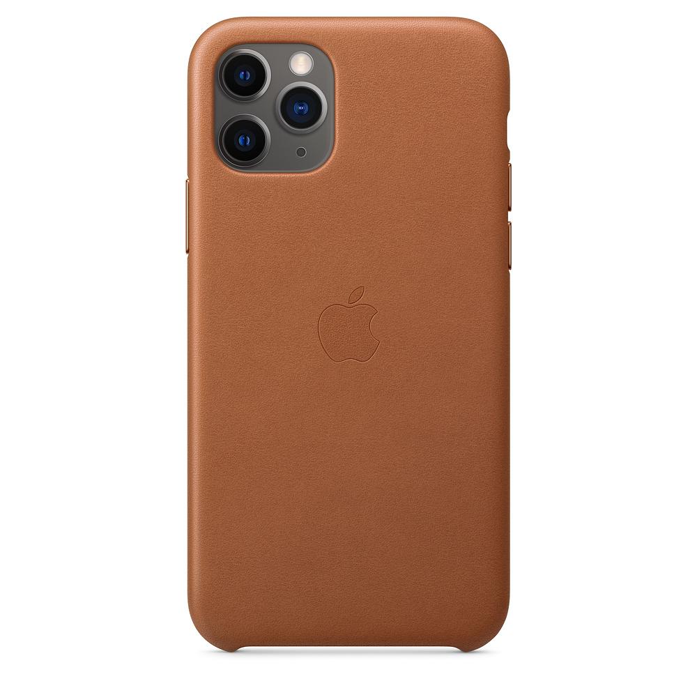 Чехол Apple для iPhone 11 Pro Leather Case - Saddle Brown