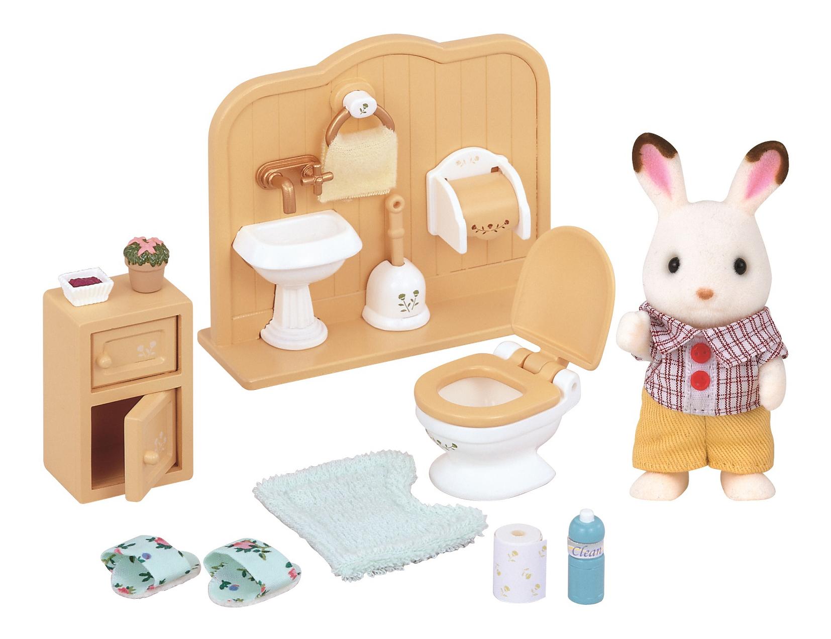 Купить Игровой набор sylvanian families братик и туалетная комната, Игровые наборы