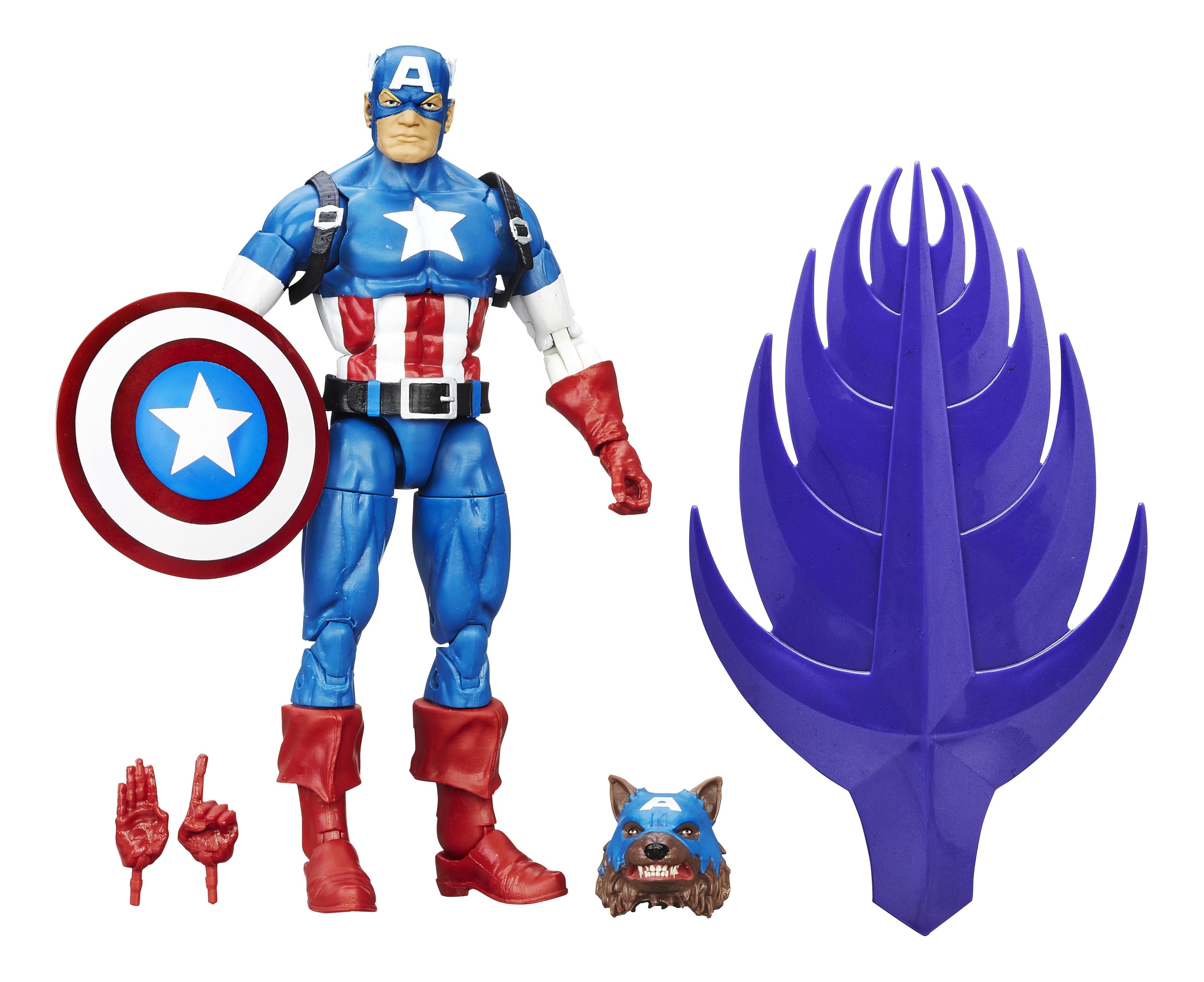 Купить Коллекционная фигурка Marvel Legends Series 6 Капитан Америка 15 см B6355 B6394, Игровые фигурки