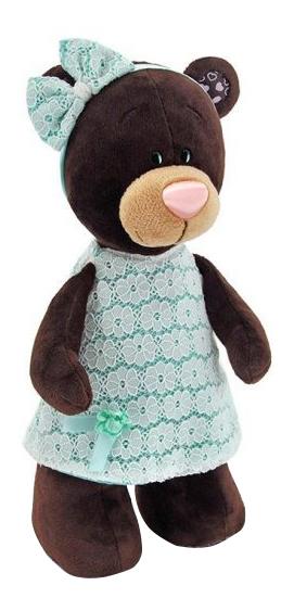 Мягкая игрушка Orange Toys Медведь Milk стоячая в платье цвета мяты 30 см