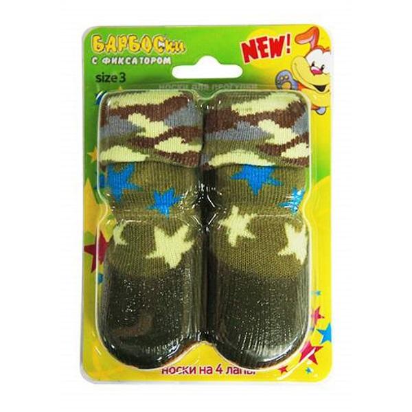 Носки для собак БАРБОСки размер M 4 шт зеленый.