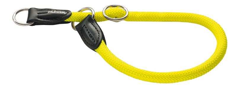Нейлоновый ошейник-удавка Hunter Smart Freestyle Neon 60/10 желтый для собак, размер 60см