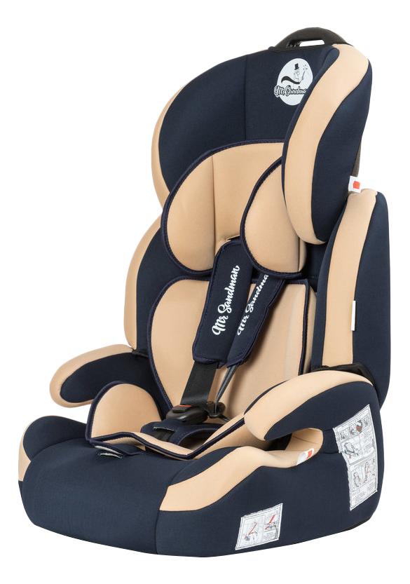 Купить Автокресло Mr Sandman Voyager Isofix группа 1/2/3, Темно-Синий, Серый (KRES1030), Детские автокресла