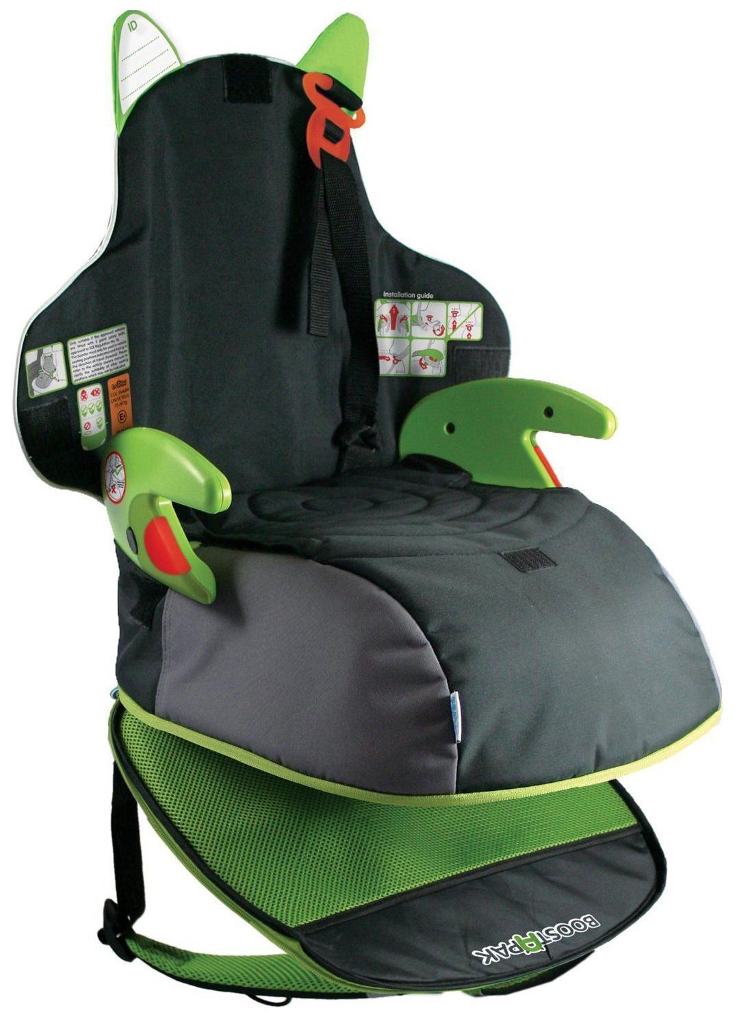 Детский рюкзак-автокресло-бустер Trunki Boostapak Черный/Зеленый
