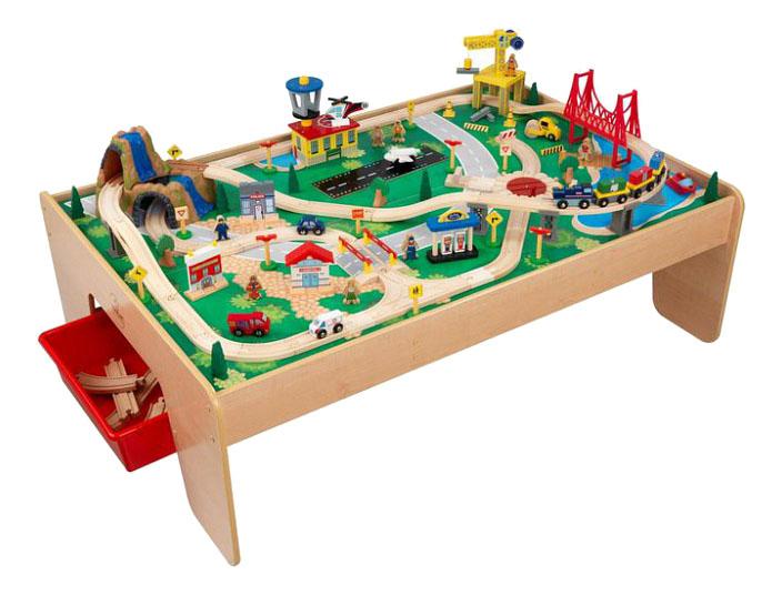 Игровой набор KidKraft Железная дорога со столом Горный водопад