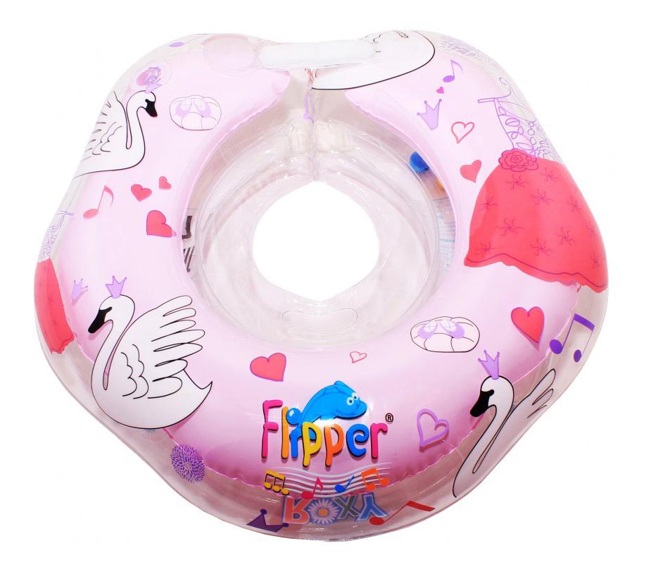 Круг для купания Flipper Лебединое озеро розовый
